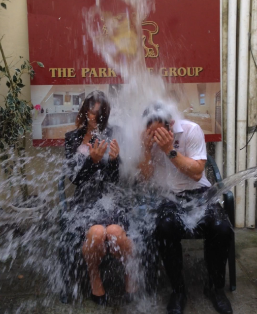 Ice bucket challenge at The Park Lane Group, Hastings
