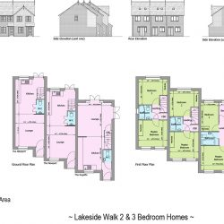 Lakeside Walk Elevation and floor plans