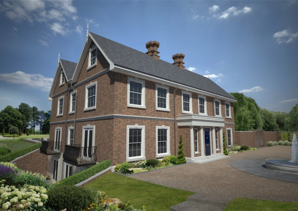 Front Elevation The Hermitage Wadhurst 1 1024x724 plot with planning permission for sale in wadhurst the park lane,Planning Permission For New House