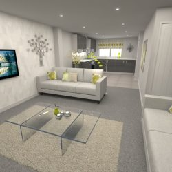 Lucca 4 Bed Living Room & Kitchen