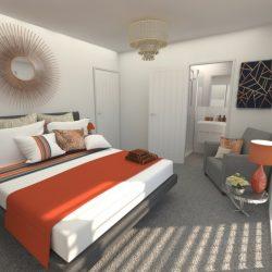 Portofino 3 Bed Master Bed & Ensuite
