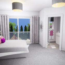 The Beaumont Master Bed & En-suite CGI