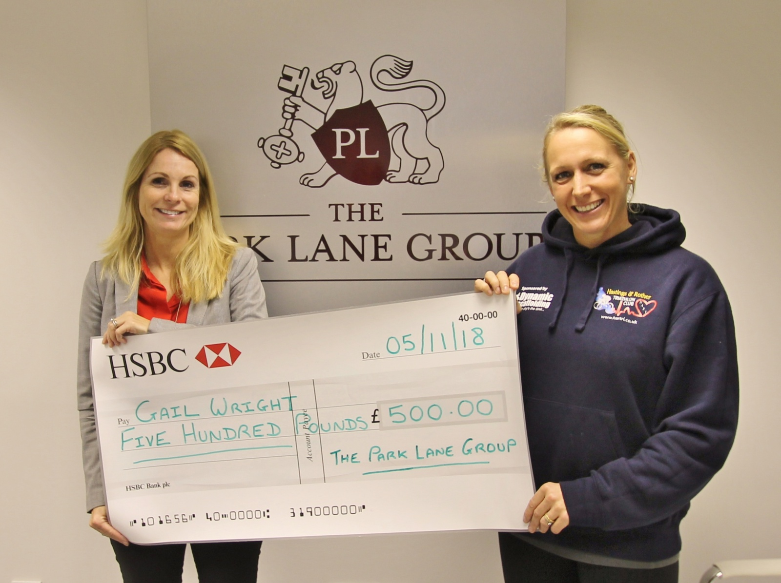 Gail Wright Athlete sponsorship by The Park Lane Group