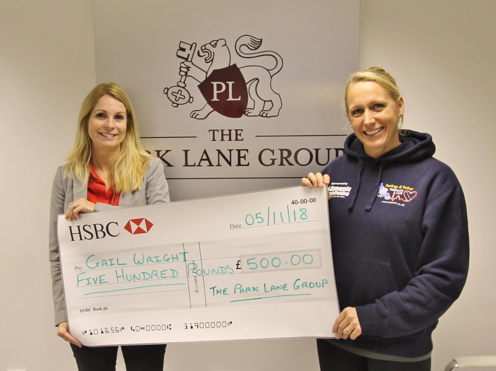 Gail Wright Athlete sponsorship by The Park Lane Group