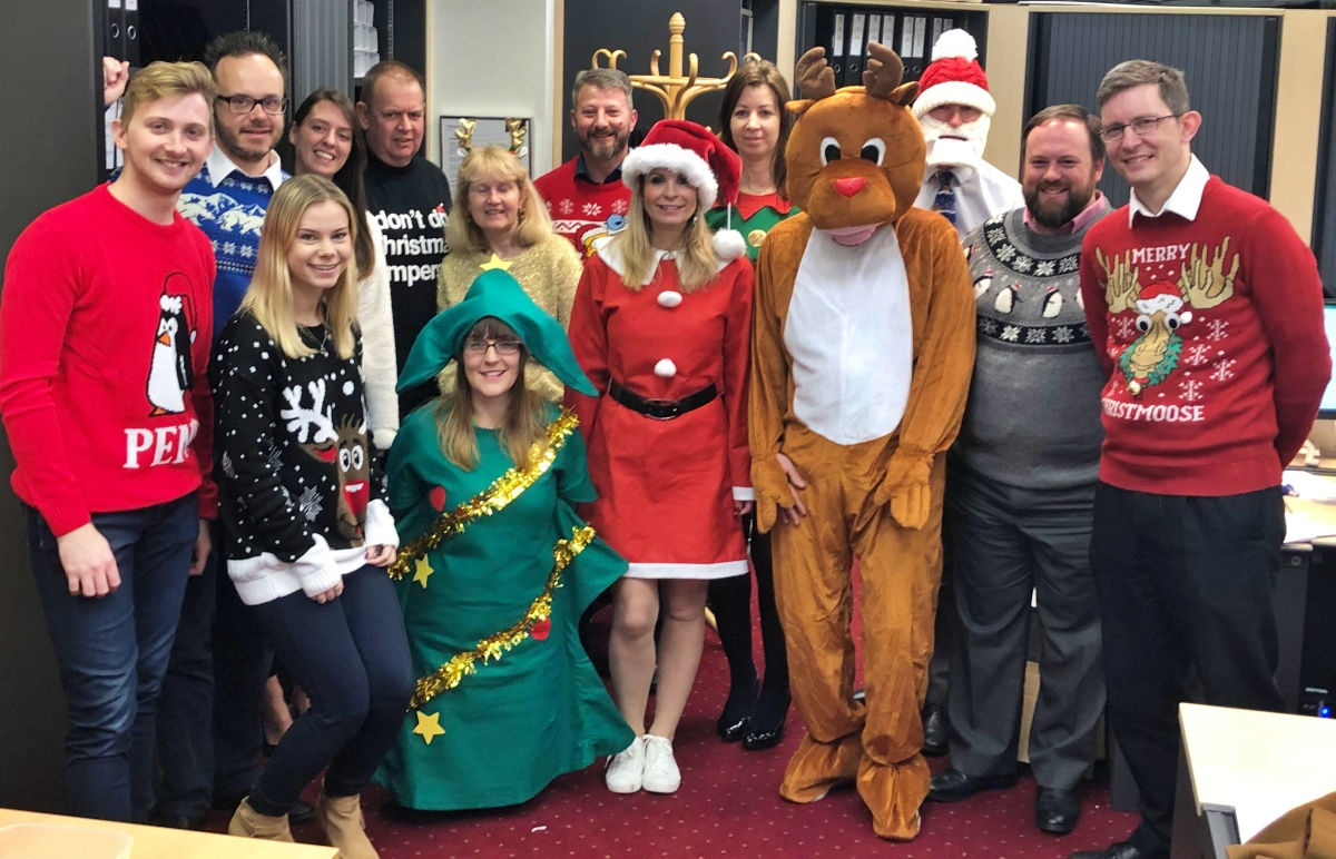 Xmas Jumper Day 2019 at Park Lane Group