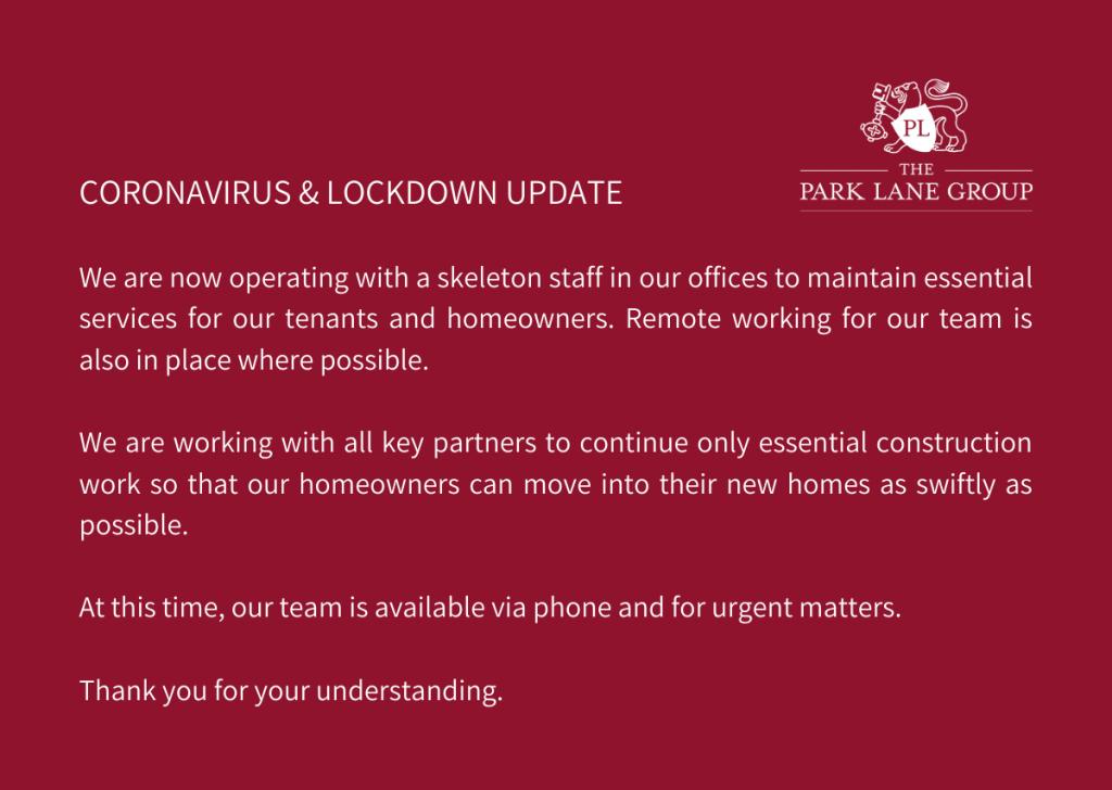 Coronavirus & Lockdown update