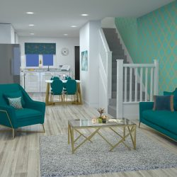 The Nightingale Living Room at Rosefinch Way