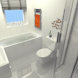 Family bathrooms at Finchley Place