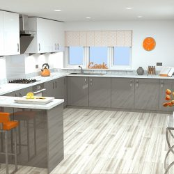 Designer kitchens with integrated appliances